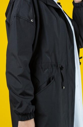 İmperméable Taille Froncé 6846-01 Noir 6846-01