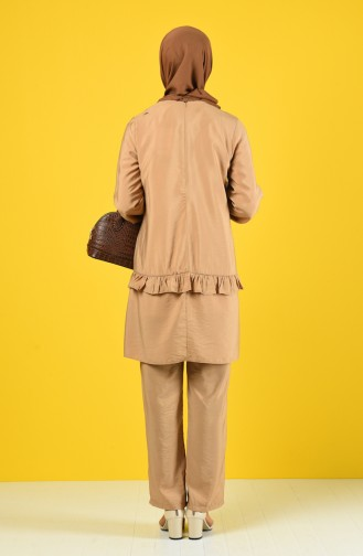 Aeroben Fabric Tunic Trousers Double Suit 8200-05 Biscuit 8200-05