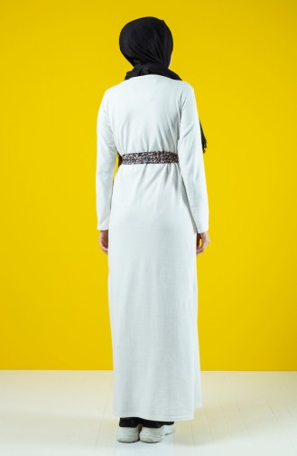 Belted Dress 0504-04 Ecru 0504-04