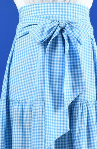 Pötikare Kuşaklı Etek 8196-03 Mavi 8196-03