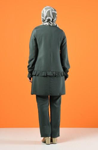 Aerobin Kumaş Tunik Pantolon İkili Takım 8200-04 Küf Yeşil