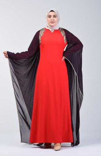 Red İslamitische Avondjurk 6Y4634800-01