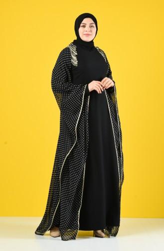 Robe de Soirée Brodée de Perles 6Y4634800-03 Noir 6Y4634800-03