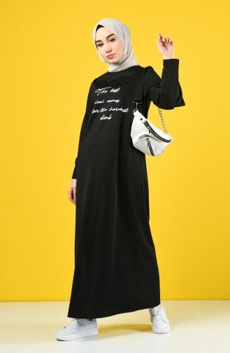 Schwarz Hijap Kleider 4090-01