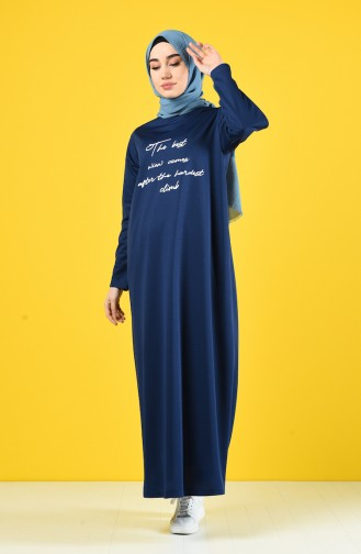 Indigo Hijab Dress 4090-02
