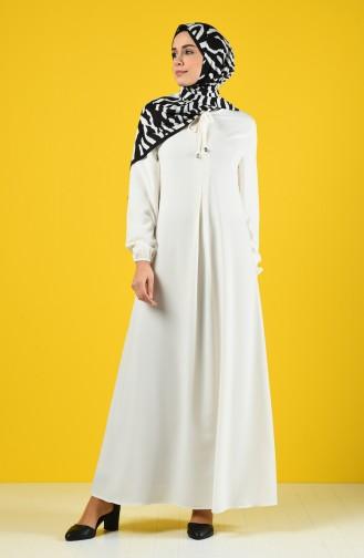 Naturfarbe Hijap Kleider 0120-09