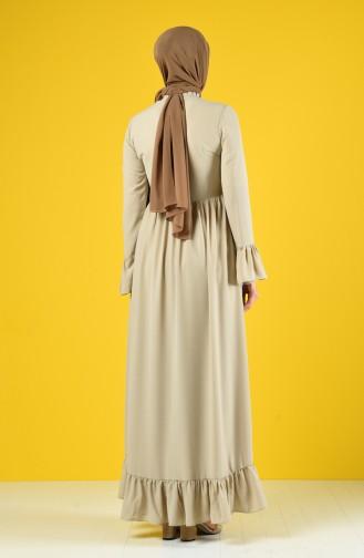 Ruched Dress 6793-02 Beige 6793-02