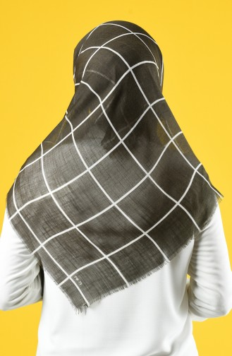 Elmina Patterned Cotton Scarf 880-06 Green 880-06
