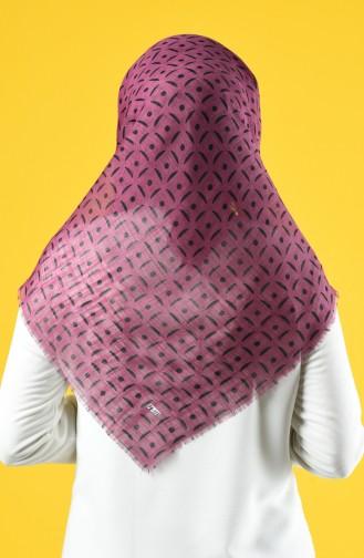 Elmina Patterned Cotton Scarf 892-01 Purple 892-01