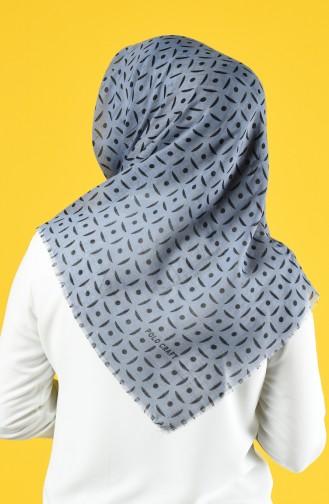 Elmina Patterned Cotton Scarf 892-06 Gray 892-06