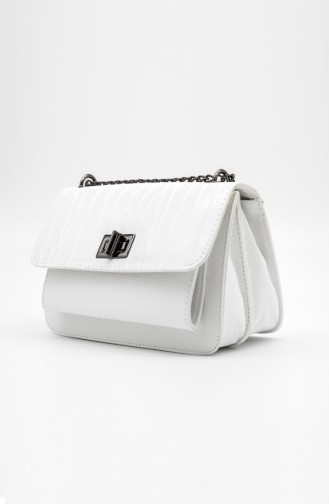 Ladies Shoulder Bag HM4102-09 White 4102-09