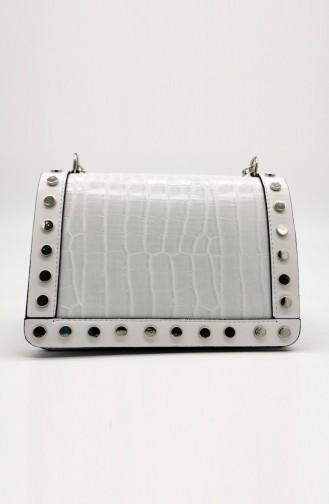 Bayan Omuz Çantası HM4108-09 Beyaz
