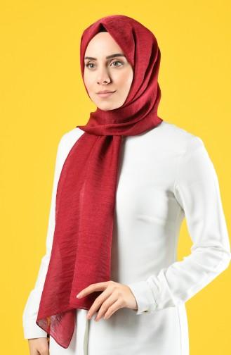 Karaca Silk Cotton Shawl 90679-09 Claret Red 90679-09