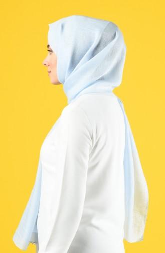 Karaca Silk Cotton Şal 90679-14 Bebek Mavisi