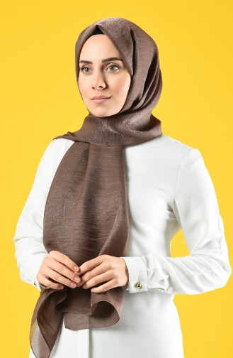 Karaca Silk Cotton Şal 90679-23 Kahverengi