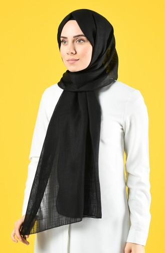 Flamed Linen Shawl 4641-01 Black 4641-01