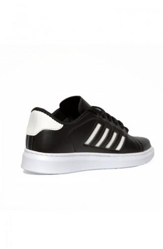 Bayan Spor Ayakkabı 30050-06 Siyah Beyaz Çizgili 30050-06