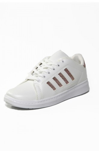 Bayan Spor Ayakkabı 30050-08 Beyaz Bakır 30050-08