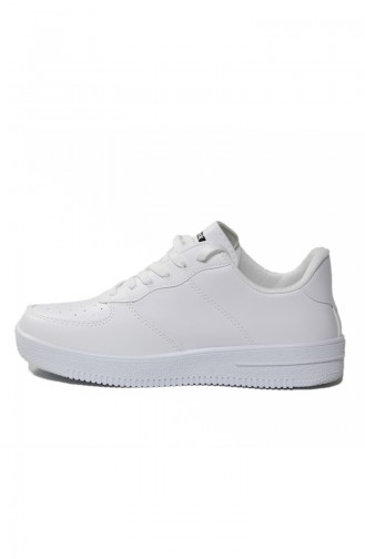 White Sport Shoes 40010-02