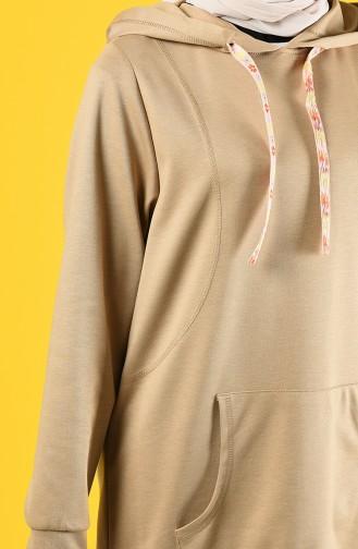 Sweatshirt mit Kapuze 8228-01 Hell Nerz 8228-01