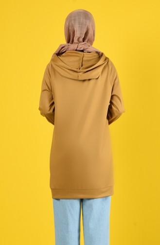 Sweatshirt mit Kapuze 8228-02 Senf 8228-02