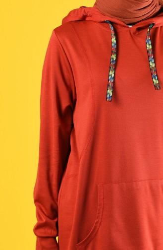 قميص رياضي قرميدي 8228-04