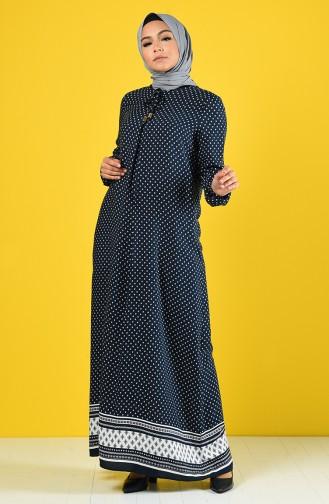 Navy Blue Dress 8190-01