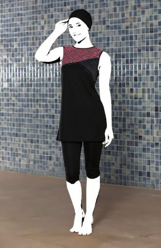 Black Swimsuit Hijab 0400-01