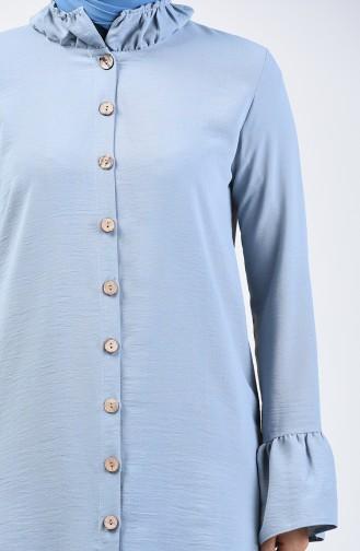 Aeroben Fabric Shirred Tunic 0079-10 Blue 0079-10