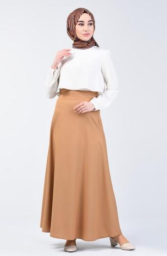 Zippered Skirt  2511-09 Mustard 2511-09