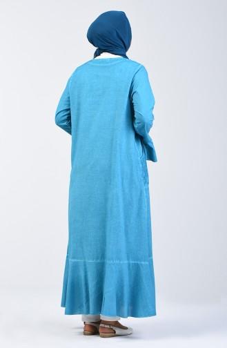 Oil Blue Abaya 8888-05