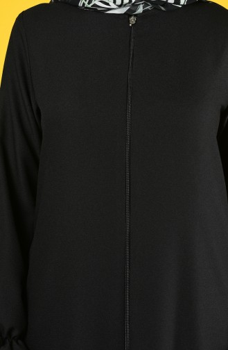 Zippered Abaya 0272-02 Black 0272-02