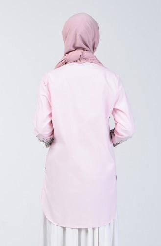 Pink Overhemdblouse 1636-02