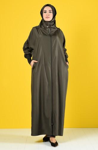 Khaki Abaya 1010-03