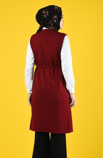 Thin Tricot Sweater with Pockets 4208-06 Claret Red 4208-06