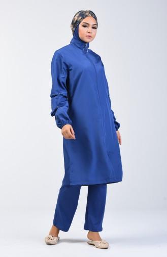 Indigo Swimsuit Hijab 372-03