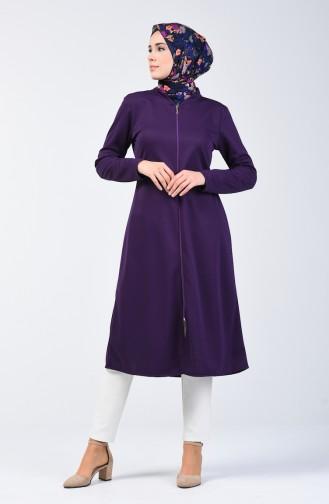 Zippered Coat 1621-02 Purple 1621-02