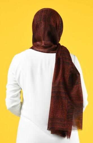 Elmina Patterned Cotton Shawl 950-101 Tile 950-101