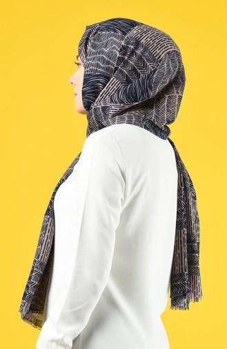 Elmina Patterned Cotton Shawl 950-105 Mink 950-105