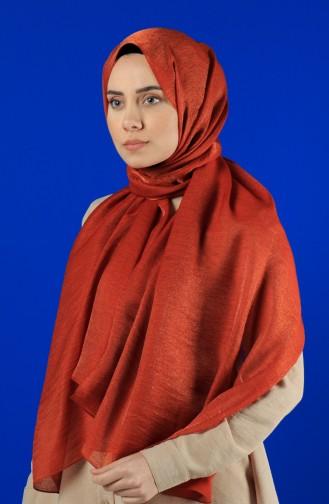 Karaca Silk Baumwollschal 90679-15 Ziegelrot 90679-15