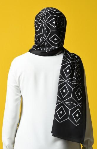 Patterned Cotton Shawl 95339-04 Black 95339-04