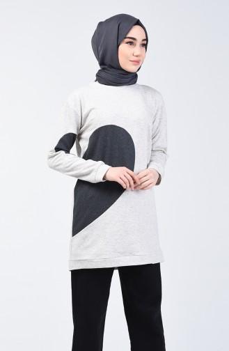 Heart Sweatshirt 3153-01 Beige 3153-01