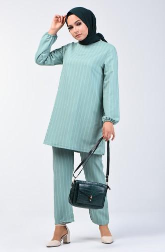 Kolu Lastikli Tuink Pantolon İkili Takım 1027A-01 Çağla Yeşili