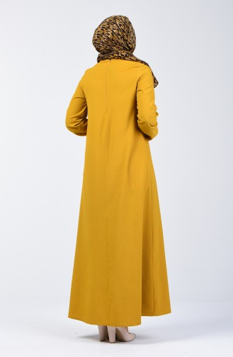 Robe Hijab Moutarde 1373-02