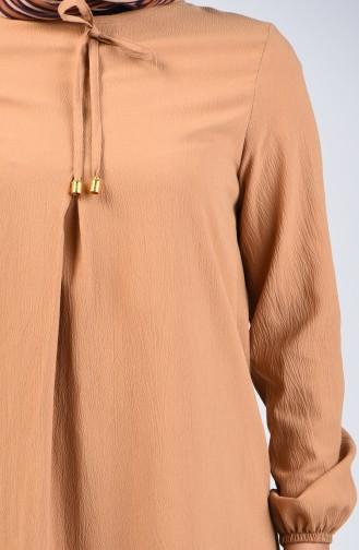 A Pile Elbise 1373-03 Vizon