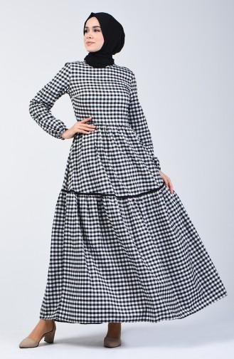 Robe Froncée 1376-02 Noir 1376-02