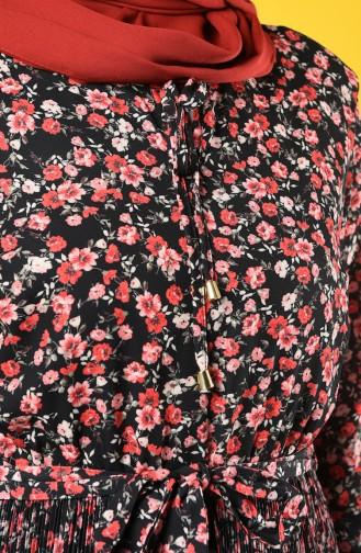 Piliseli Kuşaklı Elbise 9Y3934301-02 Siyah