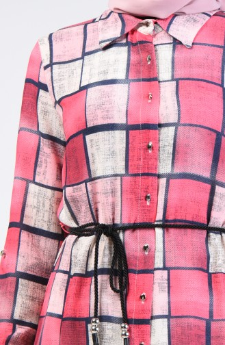 Belted Tunic 1609-02 Fuchsia 1609-02