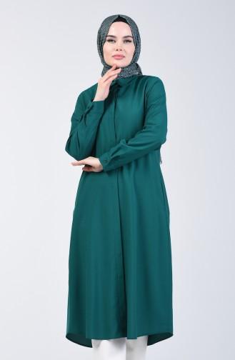 Viscose Tunic with Pockets 6435-09 Emerald Green 6435-09