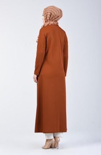 Zippered Abaya 3054-03 Tobacco 3054-03